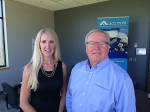 Katherine Harrington - Sales Manager innovationIOWA Magazine and Roger Hargens - CEO Accumold